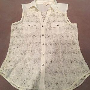 Halo lace blouse, size M, NWOT